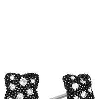 Women's David Yurman 'Midnight Melange - Quatrefoil' Earrings with Diamonds - Diamond