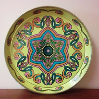 Art Deco Colorful MetalTray Designed by Daher