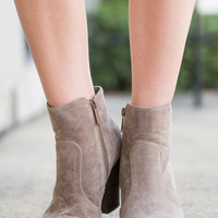 Tempting Trails Booties, Taupe