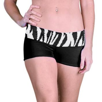 Outta Bounds Yoga Shorts Spandex Shorts Zebra Animal Print