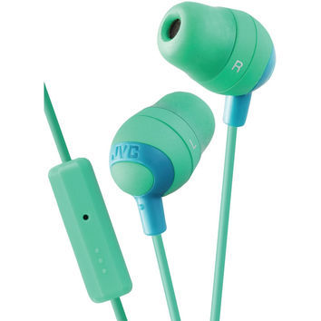 JVC Marshmallow Inner-Ear Earbuds with Microphone & Remote (Green) HAFR37G HAFR3
