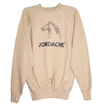 Vintage Jordache Brand Denim Jeans Crewneck Sweatshirt | | Adult Size Medium | Retro Designer Nostalgic Throwback Shirt Tee