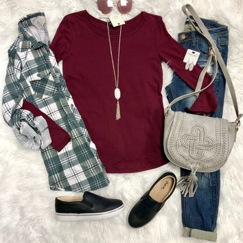 Back To Classic Burgundy Top
