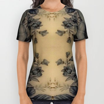 Dune Pale Oyster Flora All Over Print Shirt by Deluxephotos