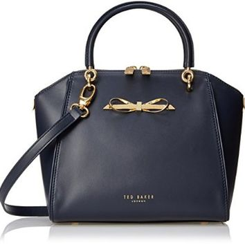 Ted Baker Lailey Metal Slim Bow Leather SML Tote Top Handle Bag