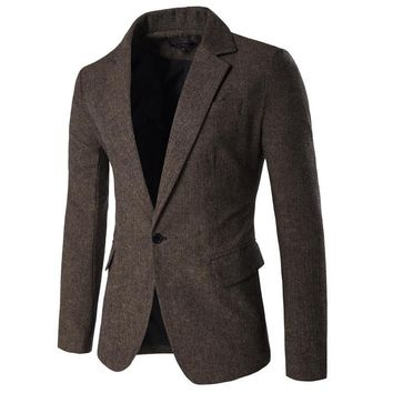 Men's Casual Blazer Size M-2XL
