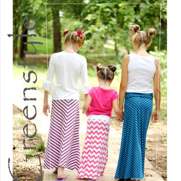 Girl's Amy Skirt PDF Sewing Pattern  in Sizes 2 years to 16 years