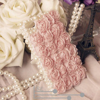 Lace flower rose iPhone Case studded iPhone 4s Case iPhone 5 Case Hard Phone Case unique iphone 4 case
