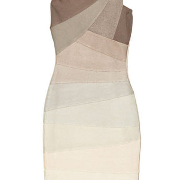 Single Strap Gradient Bandage Dress