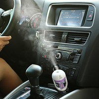 Portable Car Aromatherapy Humidifier Mini Essential Oil Diffuser
