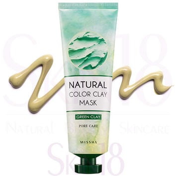 Missha Natural Color Green Clay Mask (Pore Care & Sebum)