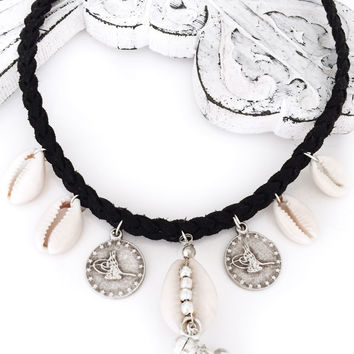 Fusion Cowrie and Coin Choker