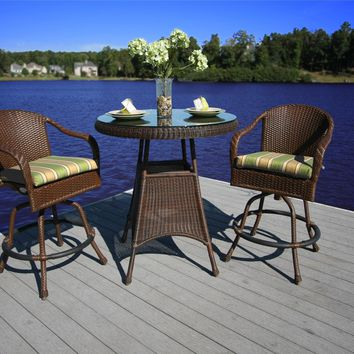 Tortuga Outdoors Lexington Resin Wicker Bar Chair