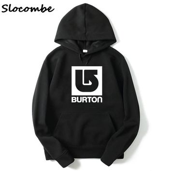 2018 New Fashion Burton Arrow Logo Print Men Spring autumn season Hoodies Sweatshirts Free shipping