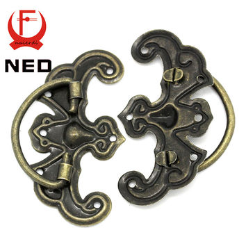Kak 10Pcs Classical Bronze Tone Pattern Drawer Cabinet Desk Door Jewelry Box Pulls Handle Knobs Two Size W/ Furniture Hardware