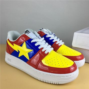 Foot Soldier BAPE STA Red-Blue/Yellow Sneaker Shoe 36-45