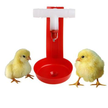 1Pcs New Automatic Bird Coop Feed Poultry Chicken Fowl Drinker Water Drinking Cups Hanging Chicken For Beauty Tool
