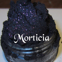 Morticia Purple Glitter Shimmer Mineral Halloween Gothic Eyeshadow Mica Pigment 5 Grams Lumikki Cosmetics