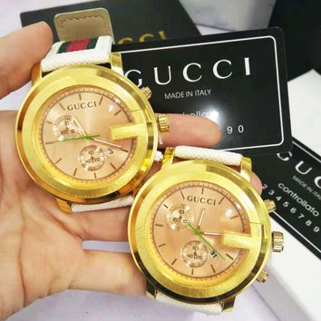 Gucci Fashion New Quartz Women Men Business Casual Watches Wrist Watch 45MM