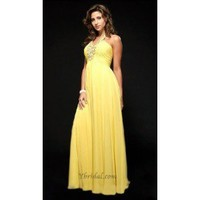 A-Line Halter Floor-Length Chiffon Prom Dress SAL1062