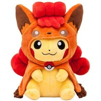 Pokemon Pikachu Vulpix Poncho Cape Plush