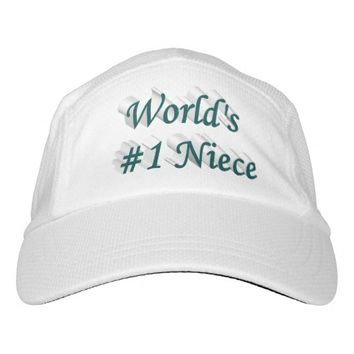 World's #1 Niece 3D Performance Hat, Blue Green Headsweats Hat