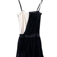 Chiffon Collision color fold bowknot belt strap chiffon dress ( color) style 823dr0036 in  Indressme