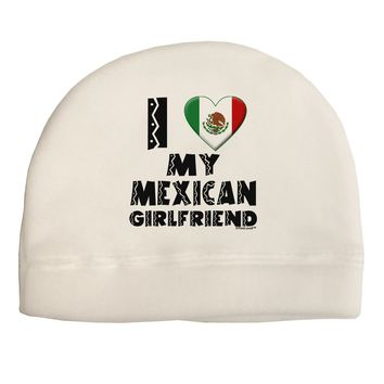 I Heart My Mexican Girlfriend Child Fleece Beanie Cap Hat by TooLoud