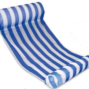 Swimming Pool beach Stripe Water Hammock Lounger Pool Float Inflatable Air Mattress  Equipment Swimming AccessoriesSwimming Pool beach KO_14_1