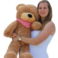 "Joyfay 100cm 1m 39"" Light Brown Giant Teddy Bear Big Stuffed Plush Animal Huge Soft Toy Gift for Birthday Valentine Anniversary"