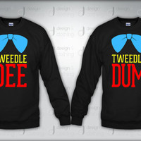 Tweedle Dee Tweedle Dum Couple Crewneck Sweatshirt