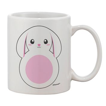 TooLoud Cute Bunny with Floppy Ears - Pink Printed 11oz Coffee Mug