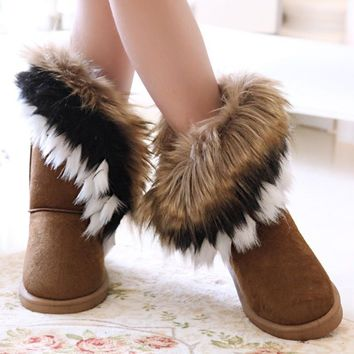 Women's Boots with the FUR