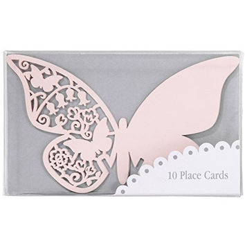 TALKING TABLES SOMETHING IN THE AIR PINK 10-Pack Butterfly Glass Place Card