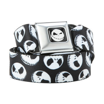 The Nightmare Before Christmas Jack Heads Seat Belt Belt