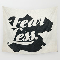 Fear Less Wall Tapestry by The Empwr Co.