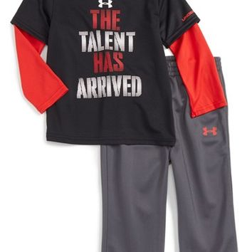 Under Armour The Talent Has Arrived T-Shirt & Pants Set (Baby Boys) | Nordstrom