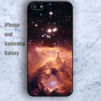 Volcano Shining Nebula colorful iPhone 5/5S Ipod touch Silicone Rubber Case, Phone cover