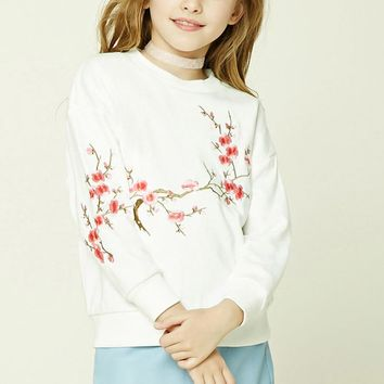 Girls Floral Sweatshirt (Kids)