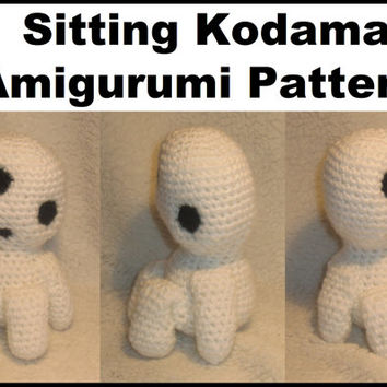 Sitting Kodama Amigurumi Pattern (Plushie/Plush Toy) from Princess Mononoke