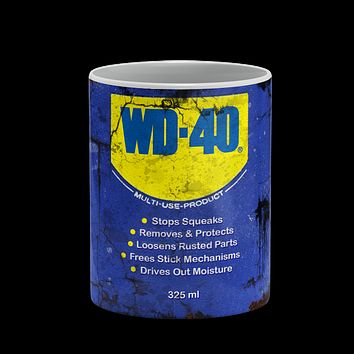 WD-40 Oil Can Vintage Distressed Retro Cool Mug