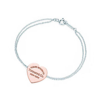 Tiffany & Co. - Return to Tiffany™ heart bracelet in RUBEDO® metal and sterling silver, medium.