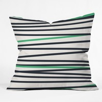 Khristian A Howell Crew Stripe Cool Throw Pillow