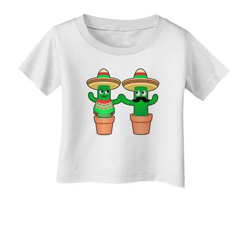 Fiesta Cactus Couple Infant T-Shirt by TooLoud