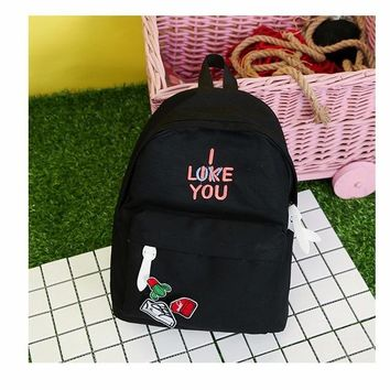 University College Backpack 2017 new Small fresh  wind sweet letters embroidery shoes cactus stickers candy color  hot saleAT_63_4