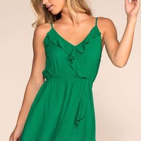 Seaside Rush Wrap Dress - Green