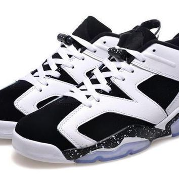 air jordan retro 6 low oreo men women basketball shoes 2016 us size 5 5 13 sneakers  number 1