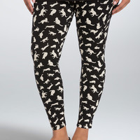 Cat Print Full Length Leggings