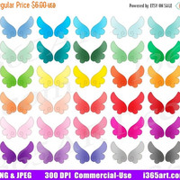 50% OFF Sale Wings Clipart, Angel Wings Clip Art, Wing Graphics, Cute Angelic Wings, Kawaii Fairy Wings, Planner Sticker Icons, PNG