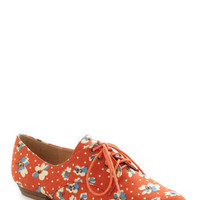 Walk on Flair Flat in Orange Blossom | Mod Retro Vintage Flats | ModCloth.com